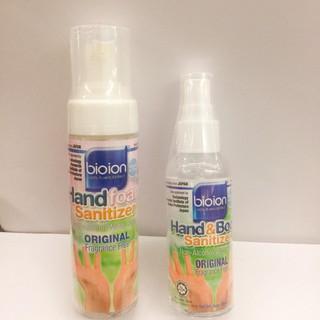 Nước Rửa Tay Khô Bioion Không Cồn, Không Mùi Làm Sạch Hand & Body 60ml 80ml thumbnail