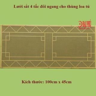 Lưới sắt Loa kéo 4 tấc đôi loa tủ ngang kèm theo ốc lục giác