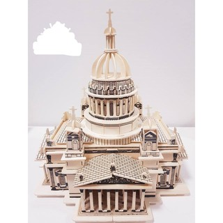 mô hình gỗ tháp issa