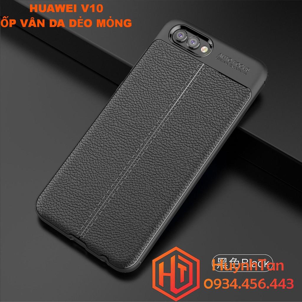 ÓP lưng Huawei V10 vân da dẻo mỏng