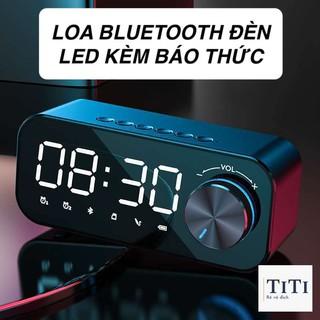 [FREESHIP] Loa bluetooth đèn led - đồng hồ báo thức mẫu đẹp B126