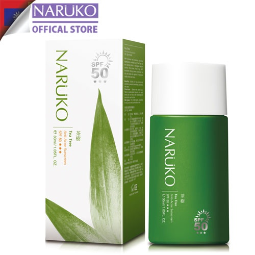 Kem chống nắng SPF50 Naruko trà tràm Tea Tree Anti-Acne Sunscreen SPF50 30 ml (Bản Đài)