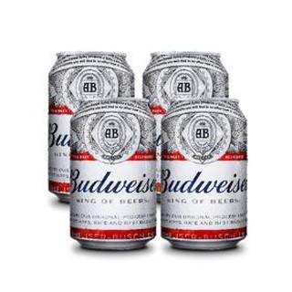 Budweiser lon 330ml – bộ 4 lon