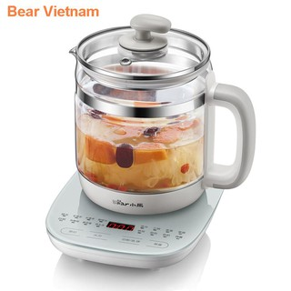 Bear sức khỏe bình gia dụng ấm trà thủy tinh đa chức năng văn phòng pha 1,5 lít