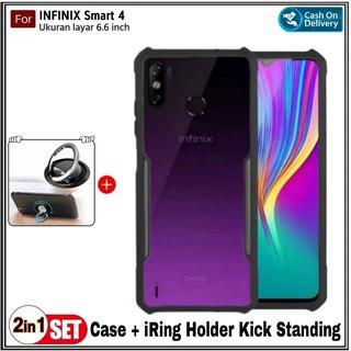 Ốp điện thoại Tpu cứng trong suốt chống sốc có nhẫn đỡ cho Infinix Smart 4 HD thumbnail