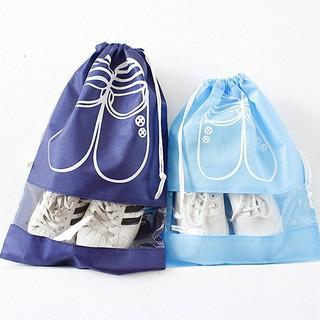 Túi đựng giày dây rút size to (41x31cm), size bé (37x27cm) chống bụi bẩn, đi du lịch tiện lợi
