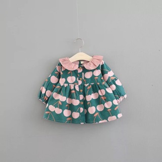 Áo khoác lót lông kiểu dáng baby doll