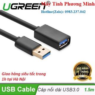 [Mã ELFLASH5 giảm 20K đơn 50K] Dây Nối Dài USB 3.0 dài 1,5m Cao Cấp Ugreen 30126 - Hàng chuẩn chính hãng