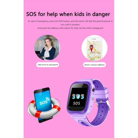 Đồng hồ thông minh kèm camera tích hợp điều khiển từ xa cho bé