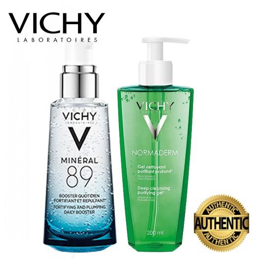 [CHÍNH HÃNG] COMBO Dưỡng Chất Cô Đặc Vichy Mineral 89 & Gel rửa mặt ngăn ngừa mụn VICHY 400ML