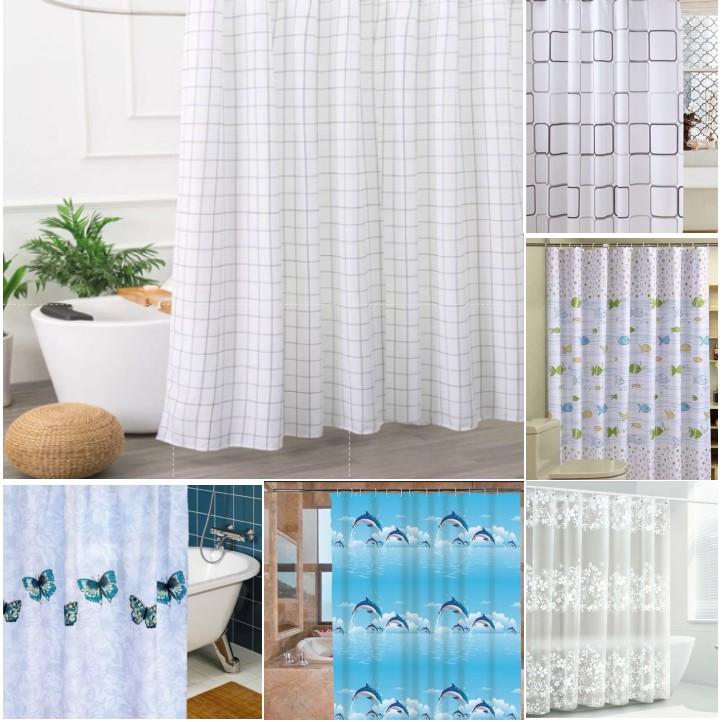 Rèm phòng tắm, rèm cửa sổ nhiều họa tiết (180cm x 180cm) Loại 1