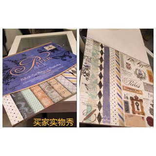 PAPER PACK – GIẤY HOA TRANG TRÍ SCRAPBOOK, LOVE BOX, THIỆP