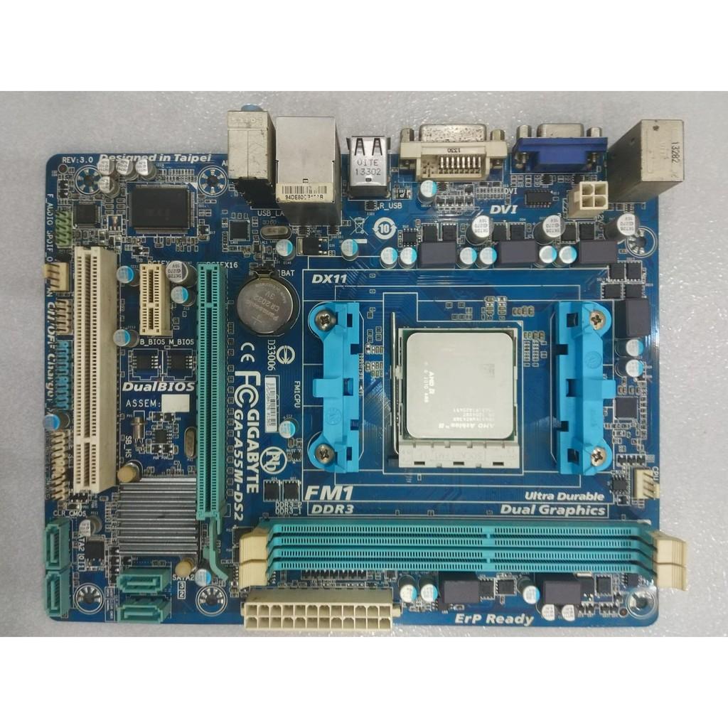 GIGABYTE GA-A55M-DS2 + AMD Athlon(tm) II X4 651 Quad-Core Processor Giá chỉ 600.000₫