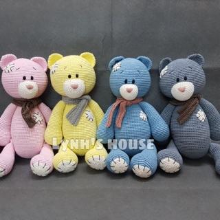 Gấu Teddy len cotton cao cấp – size 40cm🐻
