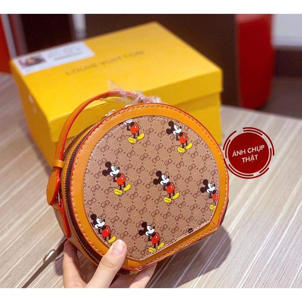 Túi tròn mini đeo chéo túi tròn chuột Mickey SATA mẫu mới nhất hàng đẹp TRONMIC02
