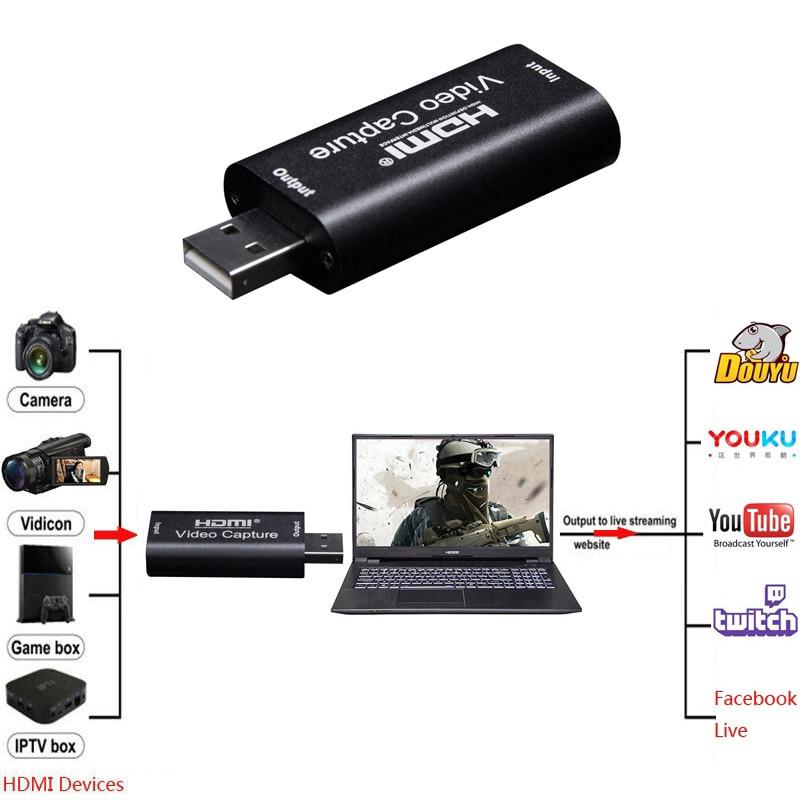 Card Ghi Hình Video Mini USB 2.0 HDMI Chuyên Dụng Dùng Khi Chơi Game Điện Thoại/Máy Tính Bàn/Live Stream