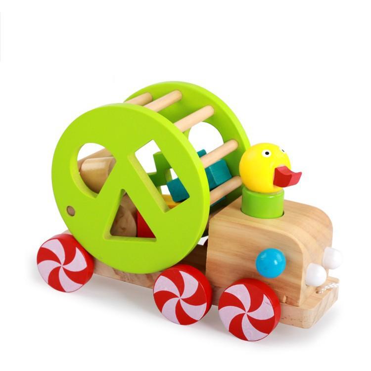 [ HOT DEAL ] Xe vịt thả hình – Đồ chơi giáo dục an toàn cho bé