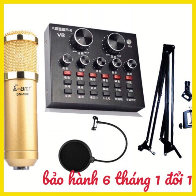 Bộ combo livestream AMI BM900 card V8 và chân màng BH 6 tháng - 2695344 , 1029647665 , 322_1029647665 , 1000000 , Bo-combo-livestream-AMI-BM900-card-V8-va-chan-mang-BH-6-thang-322_1029647665 , shopee.vn , Bộ combo livestream AMI BM900 card V8 và chân màng BH 6 tháng