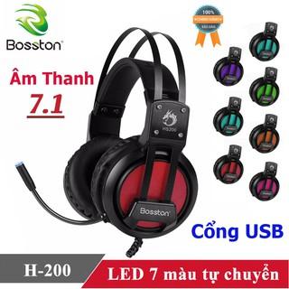 Tai nghe Gaming Bosston H-200 ♥️Freeship♥️ Giảm 30k khi nhập MAYT30 - Tai nghe chơi game giá rẻ Bosston H-200 game thủ
