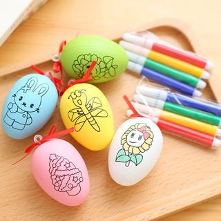 Đồ chơi tập vẽ trứng tô màu đi kèm 4 bút dạ