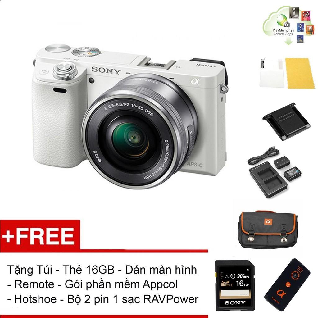 Máy ảnh Sony A6000 kèm Kit 16-50 Trắng ( Combo...