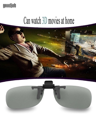 Clip On Passive Circular Polarized 3D Glasses Clip for LG 3D TV Cinema Film
