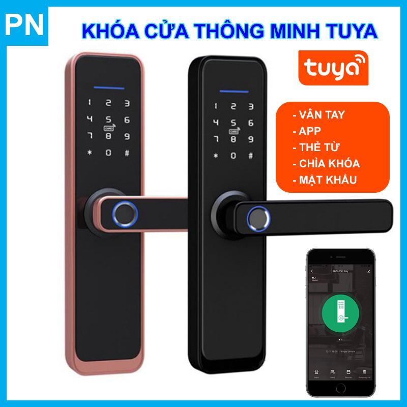 Khóa Cửa Vân Tay Thông Minh Wifi Tuya X2 New Design 2020