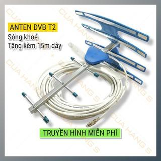 Ăng ten tivi kỹ thuật số T24G kèm dây 15m Anten truyền hình mặt đất Ang ten TV DVB T2 – sóng khỏe