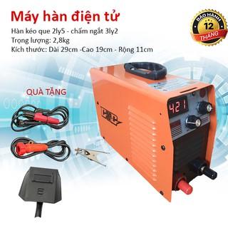 Máy hàn mini, máy hàn điện tử chính hãng GGG 420, hàn kéo que 2,5. Tặng bộ phụ kiện dây hàn+ dây mát+ kìm kẹp+ mo hàn. thumbnail