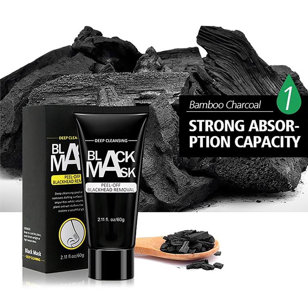 Peel Off Deep Cleansing Blackhead Removal Nose Purifying Black Acne Facial Shrink Pores Mask Scars Bamboo Charcoal