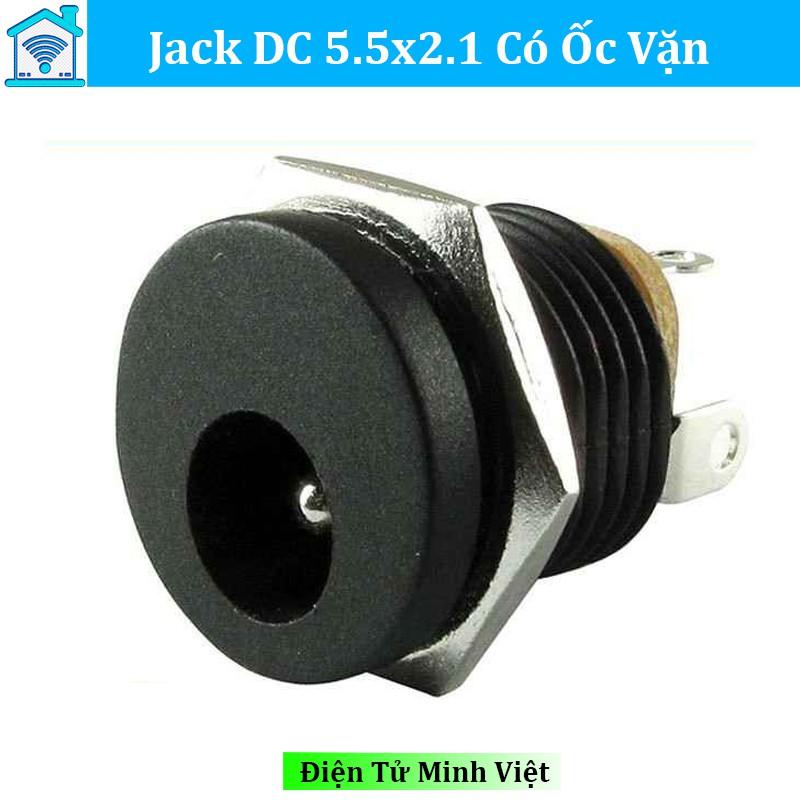 Jack DC 5.5x2.1 Có Ốc Vặn