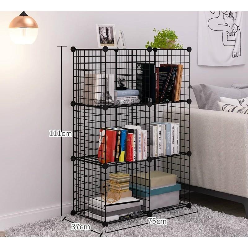 - Lưới sắt, thép lắp ghép đa năng làm giá để sách, đồ gia dụng, chuồng Size 35x35cm