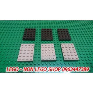 Lego base 4×6 ( xám nhạt or đen 5c )