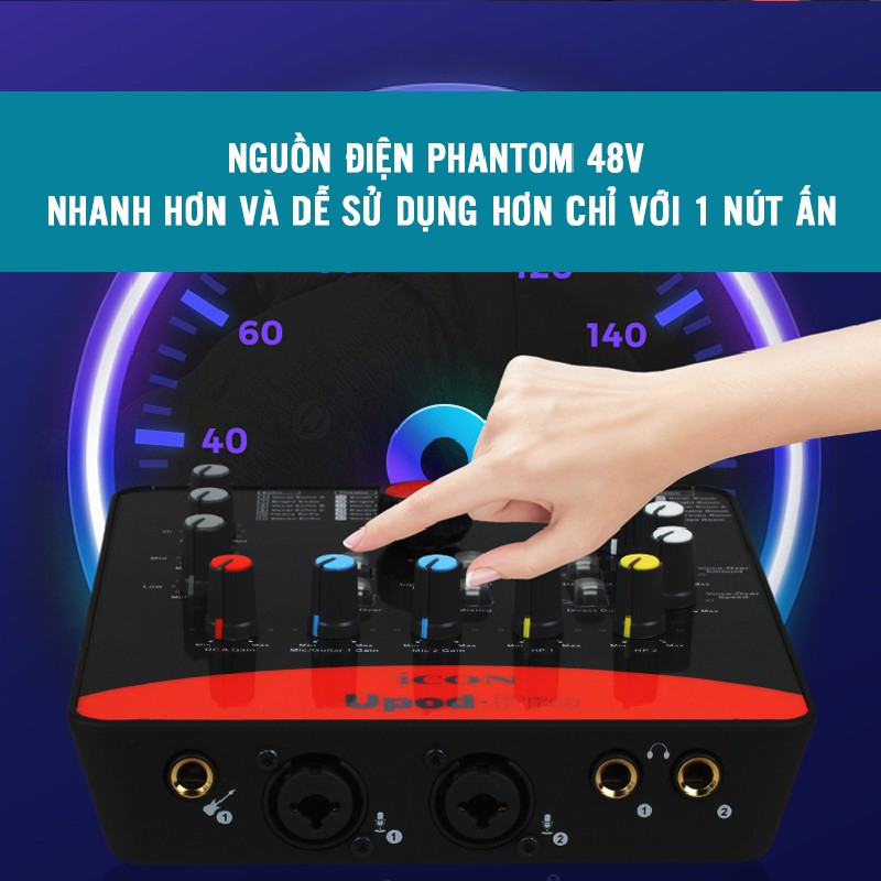 [Mã 267ELSALE hoàn 7% đơn 300K] [CHÍNH HÃNG] Sound card thu âm / livestream/ karaoke ICON Upod Pro, BẢO HÀNH 12 THÁNG