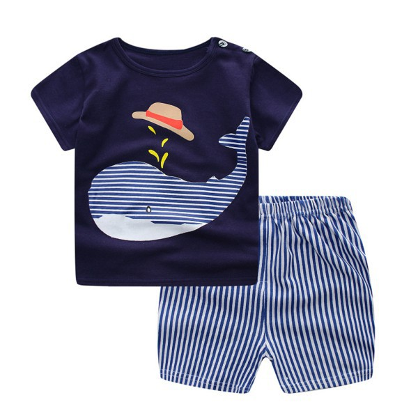 Set áo thun tay ngắn in hình cá heo và quần short kẻ sọc năng động cho bé - 22801511 , 1638949532 , 322_1638949532 , 90000 , Set-ao-thun-tay-ngan-in-hinh-ca-heo-va-quan-short-ke-soc-nang-dong-cho-be-322_1638949532 , shopee.vn , Set áo thun tay ngắn in hình cá heo và quần short kẻ sọc năng động cho bé