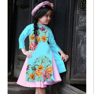 Combo 20 áo dài bé gái thumbnail