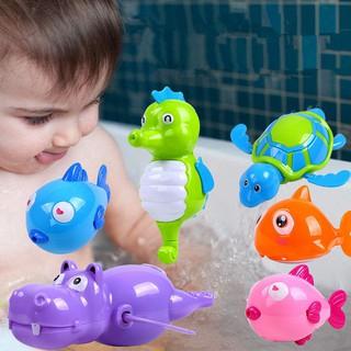 Bathtub Playset Bath Toys Animals Pool Wind Up Water Swimming Tub Clockwork Kids