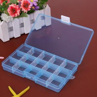 Hộp nhựa 15 ô đựng trang sức / trang sức tiện lợi