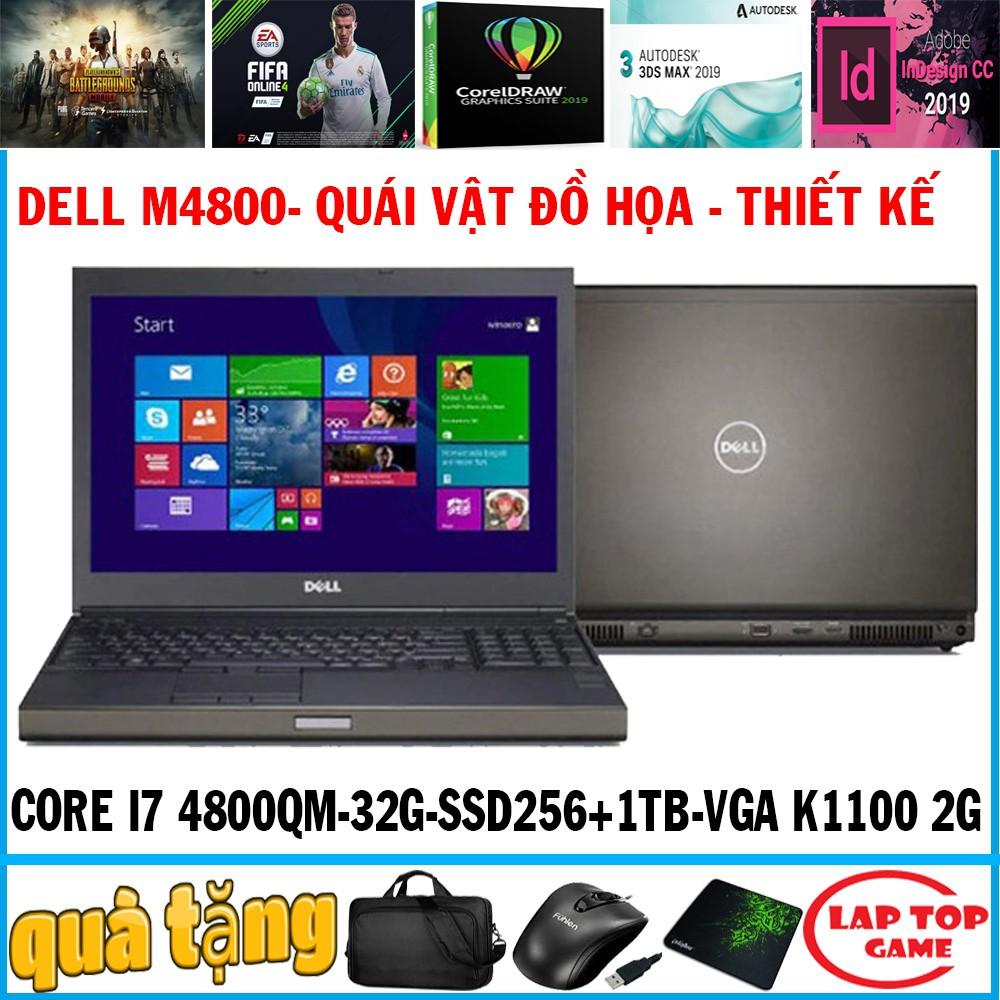laptop Khủng đồ họa Dell M4800 Core i7-4800MQ, VGA 2G, laptop cũ chơi game cơ bản đ