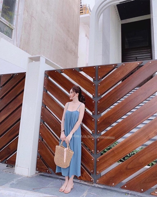 📣SALE SALE 20% 🔜HÀNG QUẢNG CHÂU💦 Váy maxi hai dây trơn