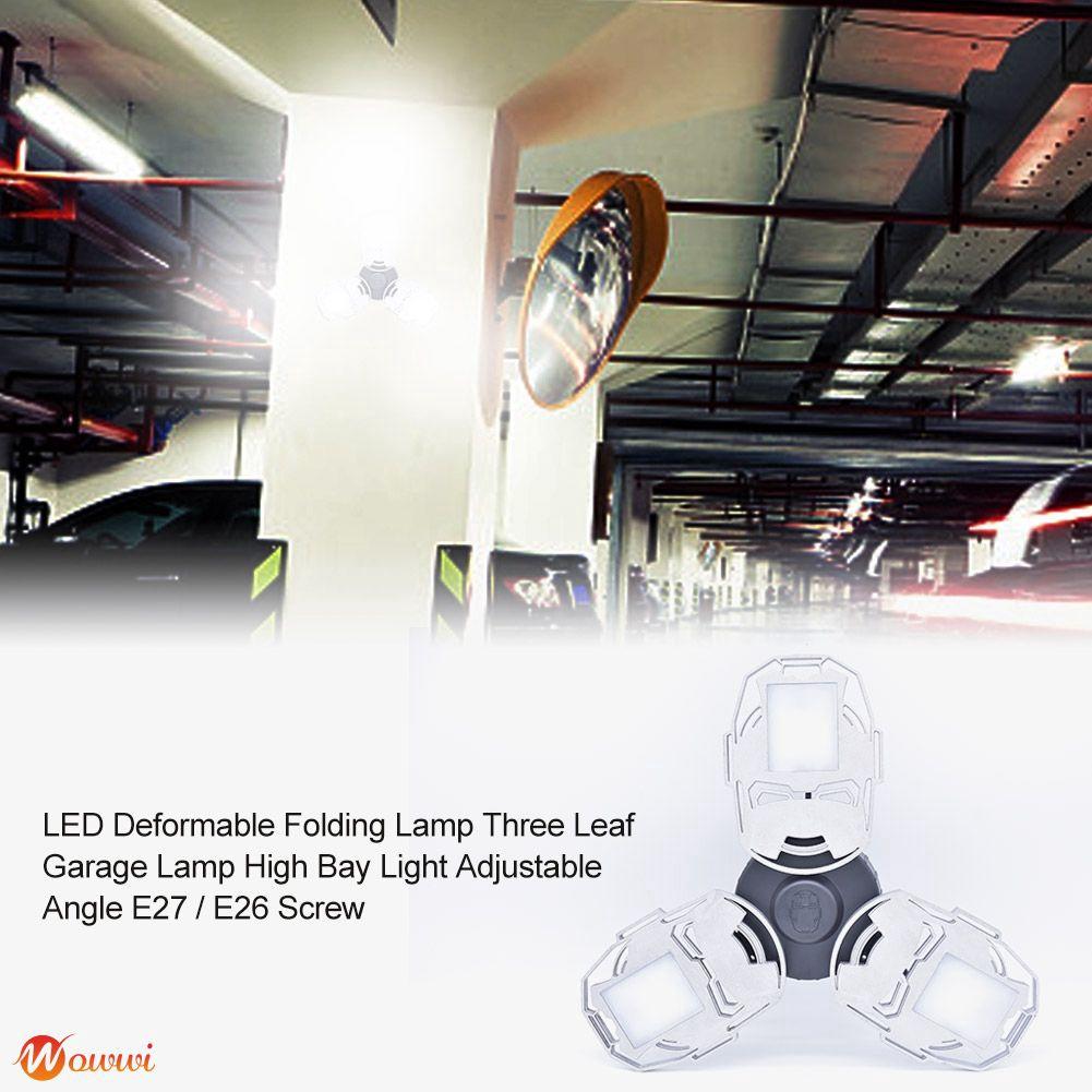 ❥ 100W 126LED Garage Light LED Shop Lamp Ceiling Deformable Daylight AC85-265V Gdth