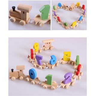 Đoàn tàu số 0 – 9 – đồ chơi gỗ -Đồ chơi giáo dục phát triển trí tuệ