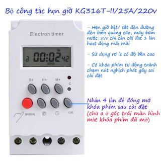 Công tắc hẹn giờ Kg316T-II 25A 220V khóa phím, bộ hẹn giờ bật tắt thiết bị điện, hẹn giờ bật tắt tự động thumbnail