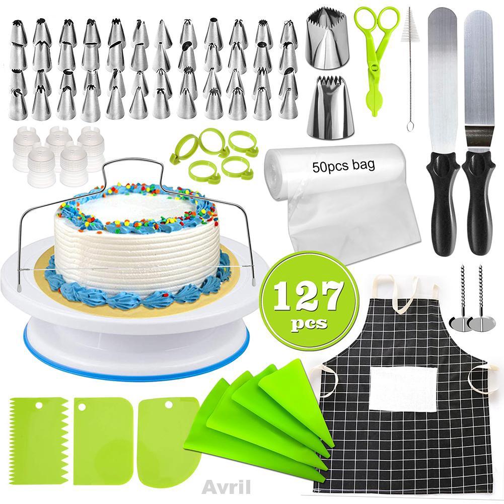 127pcs Cooking Tools Home Multi Function Revolving Turntable Cake Decorating Kit - 23074246 , 7412109358 , 322_7412109358 , 578000 , 127pcs-Cooking-Tools-Home-Multi-Function-Revolving-Turntable-Cake-Decorating-Kit-322_7412109358 , shopee.vn , 127pcs Cooking Tools Home Multi Function Revolving Turntable Cake Decorating Kit