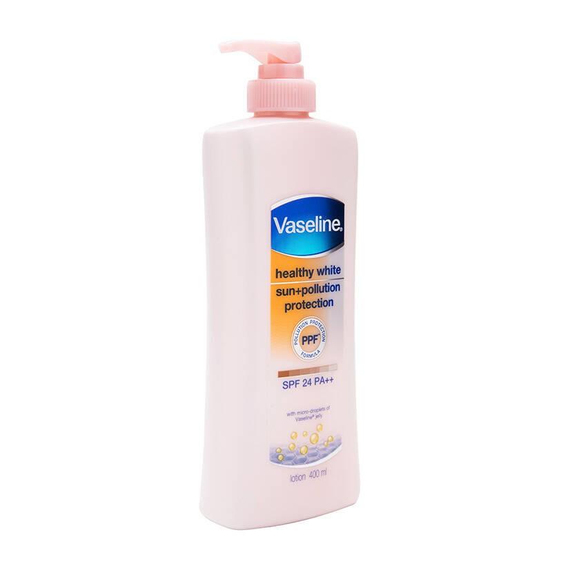 Sữa Dưỡng Thể Trắng Da Chống Nắng Và Ô Nhiễm Môi Trường Vaseline Spf 24 Pa ++ 400Ml
