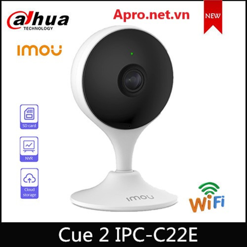 Camera IP XOAY 360 WIFI 2M IMOU (1080P) C22EP Cue 2 Full HD Còi Hú Báo Động [DAHUA Chính Hãng 24TH]