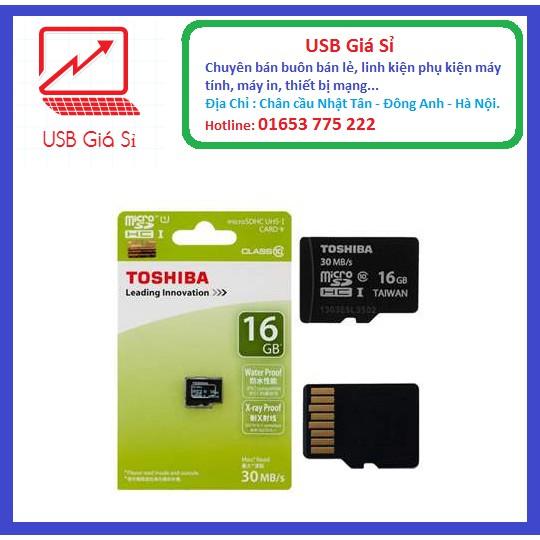 Thẻ nhớ micro SDHC Tóhiba 16GB