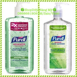 Gel Rửa tay Khô Diệt Khuẩn Của Mỹ PURELL Advanced Hand Sanitizer Natural Soothing Gel Aloe & Vitamin E 828ml, 1 lít thumbnail