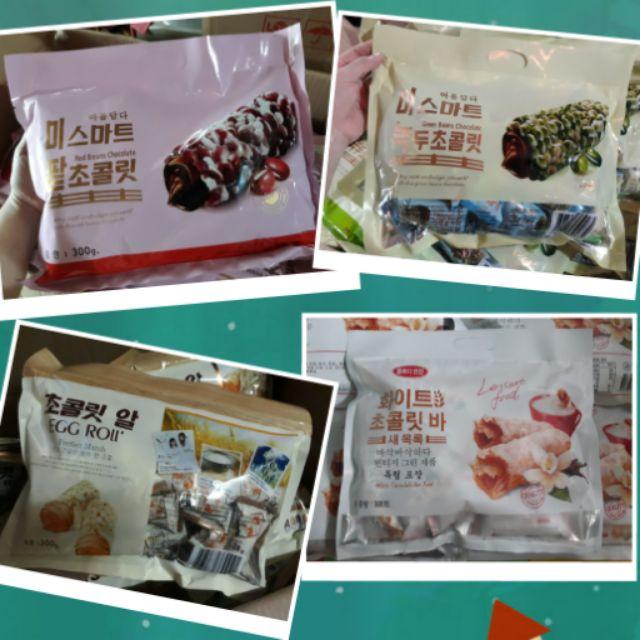 Combo 4 loại bánh yến mạch cuộn Hàn Quốc