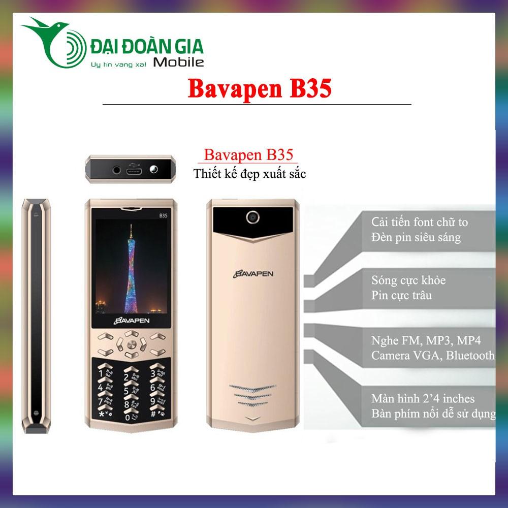 Điện thoại Bavapen B35 - Chức năng ghi âm cuộc gọi - Kiểu dáng VERTU - Pin khỏe sóng tốt